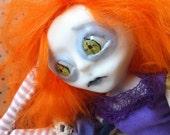 OOAK Art Doll Orange Purple Penny