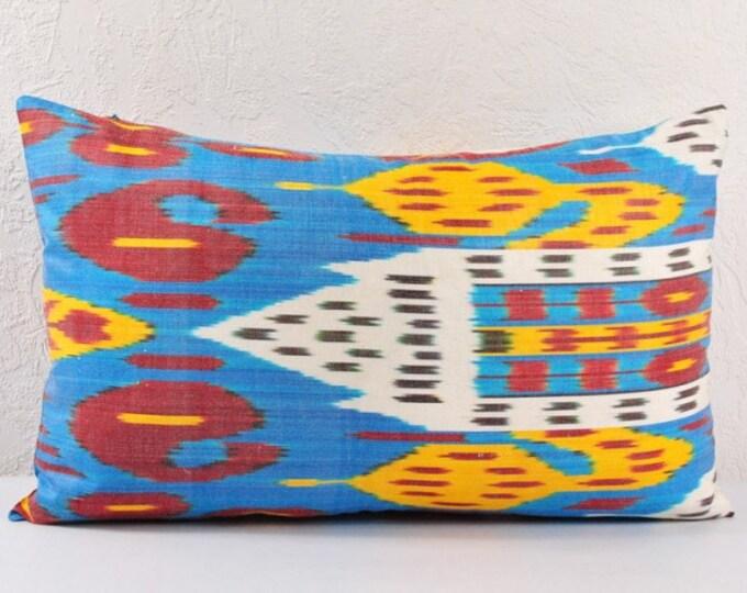 Ikat Pillow, Hand Woven Ikat Pillow Cover  lip107, Ikat throw pillows, Designer pillows, Decorative pillows, Accent pillows
