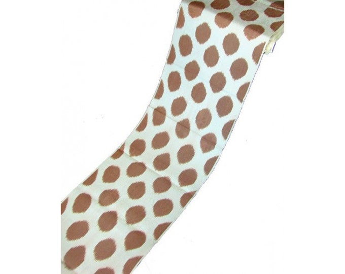 Sale! Brown Polka Dot Ikat Fabric, Ikat Fabric, Ikat Fabric by the yard, Hand Woven Fabric , F-A314