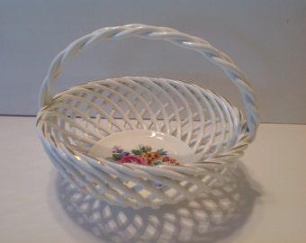 Erphila Art Pottery Basket, Bavaria