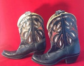 """1940's Acme Size 8-8.5 """"Shorties"""" Peewee Cowboy Boots"""