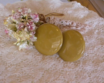 Vintage ~ Butterscotch Glass Drawer Knobs