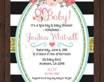 Poppy Baby or Bridal Shower Invite / Birthday Invite