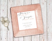 custom wedding plate - unique wedding gift - keepsake for couple - invitation plates - wedding gift idea - 1st anniversary gift