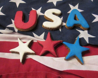 Summer Fourth of July Dog Treats God Bless America