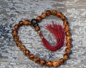 Tiger buri 27 bead pocket mala  2739