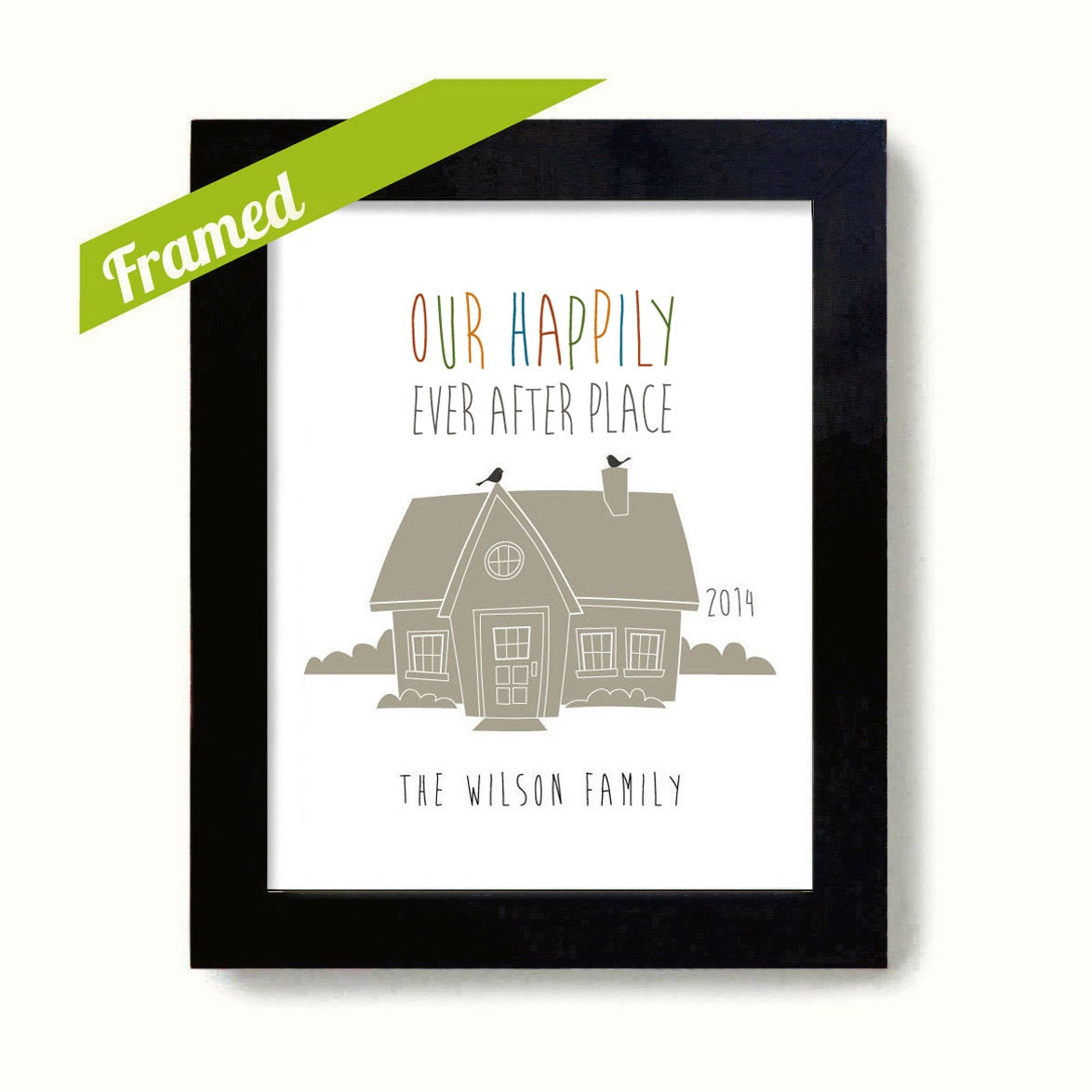 Personalized Housewarming Gift First Home Framed New By Dexmex