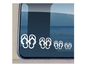 Flip Flop Family Decal Hawaiian Slipper Sticker 104