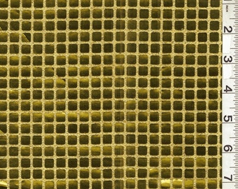 "43-44"" Gold Square Sequin Fabric 17 Yards Wholesale By The Bolt"