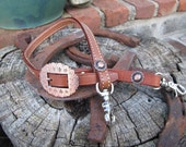 Copper Medium Oil Leather Adjustible Wither Strap