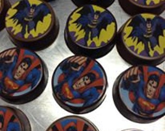 12 Edible Personalized Photo Chocolate Covered Oreos Pictures Super Heros Princess Party Favor Logo