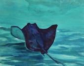Stealth Glider - Stingray - Underwater Ocean Art