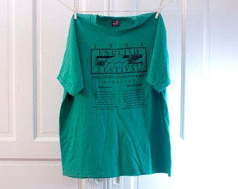 1995 English Festival shirt - Vintage Youngstown State University Booklist - Screen Stars Best variation X L Tshirt