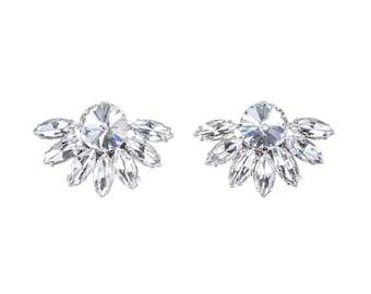 Clara Crystal Bridal Shoe Clips, Wedding Shoe Clips