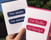 Two Brides Greeting Card