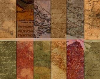 Map Digital Paper, Map Backgrounds, Nicaragua Digital Paper, Central America map digital paper, French Script Digital Paper