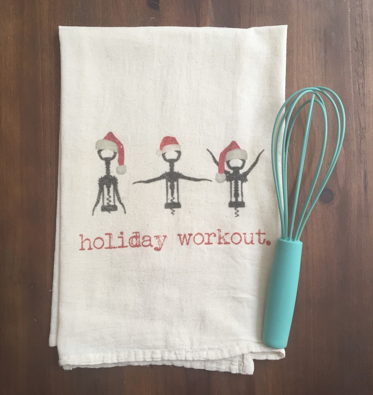 Training With Towels: Holiday Workout Flour Sack Tea Towel