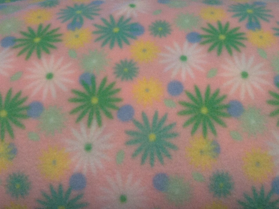 pink floral fleece fabric by the yard by oregonfleecelady on etsy. Black Bedroom Furniture Sets. Home Design Ideas