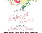Floral invite- rehearsal, bridal shower, wedding, birthday, baby shower