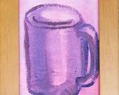 Painting-Coffee Art-Pink Art-Kitchen Art-Original Art by Diann