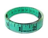 Green Measuring Tape Bangle Bracelet Sewing Theme