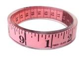 Pink Measuring Tape Bangle Bracelet Sewing Theme