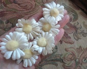 Daisy Hair Clips, Vintage Flower Clips, Wedding Hair, Bridesmaids, Flower Girl Hair Clips, Floral Hair Pins, Hair Clip Set, Music Festivals