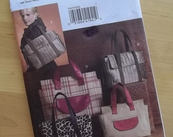 Uncut Vogue Sewing Pattern 8439 - Vogue Accessories - Satchel Bags