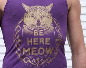 Be Here Meow super soft Men's tank top