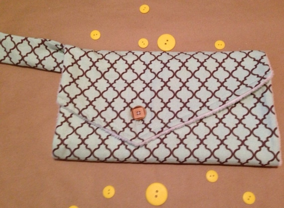items similar to on the go changing pad clutch teal on etsy. Black Bedroom Furniture Sets. Home Design Ideas