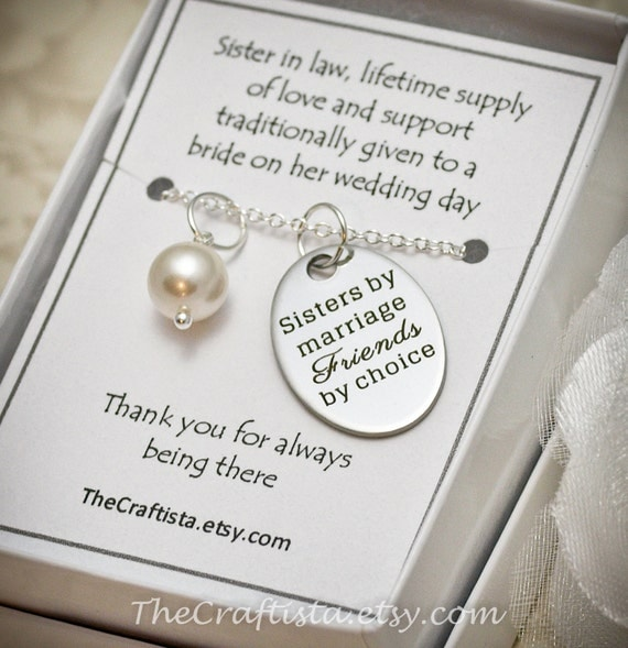 Wedding Gift For Brother And Sister In Law : Sister of the Groom Necklace SIL2 Sister-in-law by TheCraftista