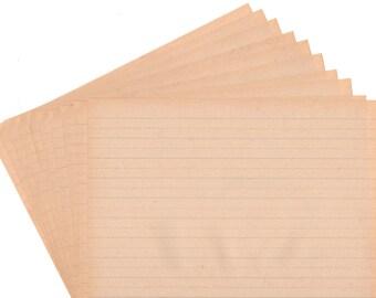 Vintage Penmanship Paper, School Paper, Kids Writing Paper, Lined Paper, Ruled Paper, Aged Paper, Journal Paper 20 Sheets Scrapbook Paper