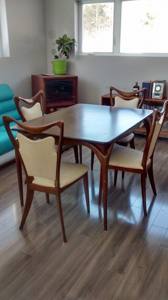 Amazing Retro Dining Table And 4 Chairs Mid Century French