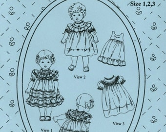 Antique Toddler Dresses Pattern by The Old Fashioned Baby