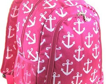 Anchor design canvas bookbag