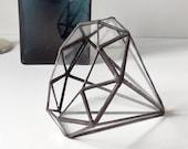 Diamond Terrarium Stained Glass Planter Diamond For Indoor Gardening, Gift For Her, Gift For Girlfriend, Gift For Mom, Wedding Gift