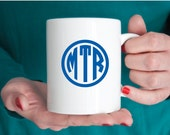 Monogrammed State Mug - 11 ounces - Mirabelle Creations