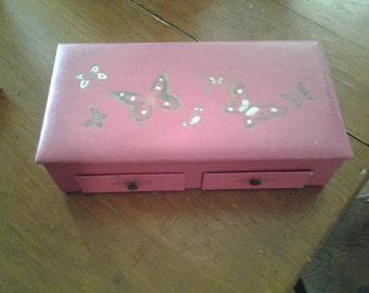 Vintage Pink Jewelry Box