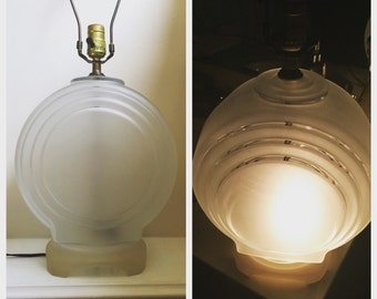 Art Deco Style Frosted Glass Lamp