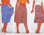 Pattern McCall's 7502 Skirt Sew Tier Ruffle Layer Quick Easy Fast Beginner Friendly NEW FACTORY Folds 1981 Miss Size 10 Very Pretty