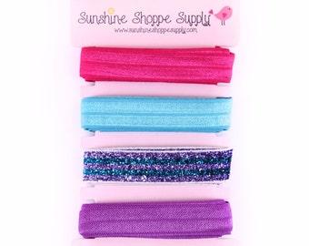 Fold Over Elastic 4 Color Bundle - Sparkle Party