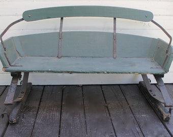 Antique Wagon Seat // Wood Buggy Seat // Country Primitive // Perfect Prop