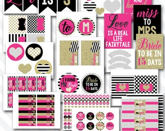 Personalized Diy Printable Kate Chic Bridal Shower Party Digital Party Package
