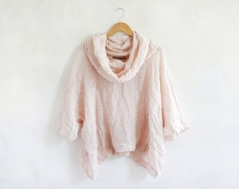 """Linen top """"INA- pink"""""""