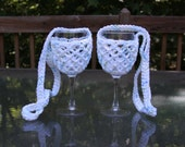 Wine Glass Holders in Summer Print - Ready to Ship