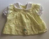 Vintage Embroidered Top/Dress 0-6 months