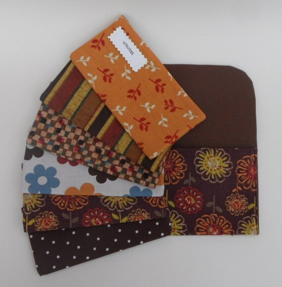 BUDGET ENVELOPES SYSTEM, Envelopes and Pouch - Citron Floral (It can be used with the Dave Ramsey system)
