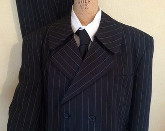 Gray  reproduction  Zoot suit designed like  suits of the late 1940's and early 1950's.