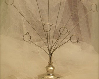 Vintage Wire Picture tree, Cards, Paper and ornament holder, Storage Card Holder, card display holder, picture display holder