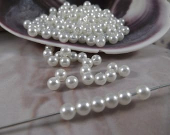 6mm Ivory Faux Loose Pearls --- 150 pieces